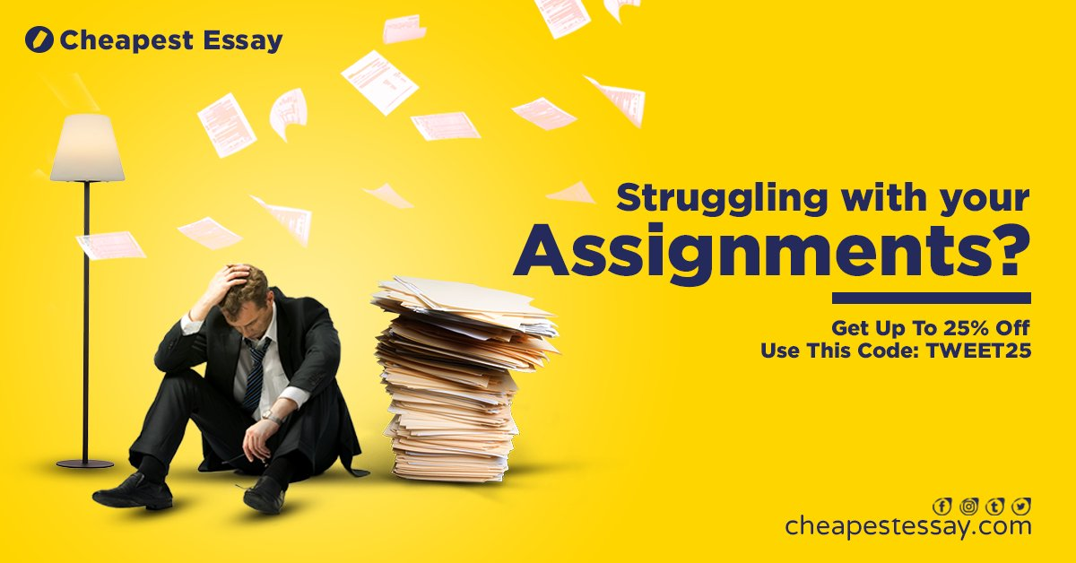 Struggling with your assignments?   Hire the best and professional assignment writers from Cheapest Essay!   Get a 25% discount on your first order, check our bio or send us a DM. #cheapestessay #essay #homework #assignment #academicpaperspic.twitter.com/AYsgvghoAT