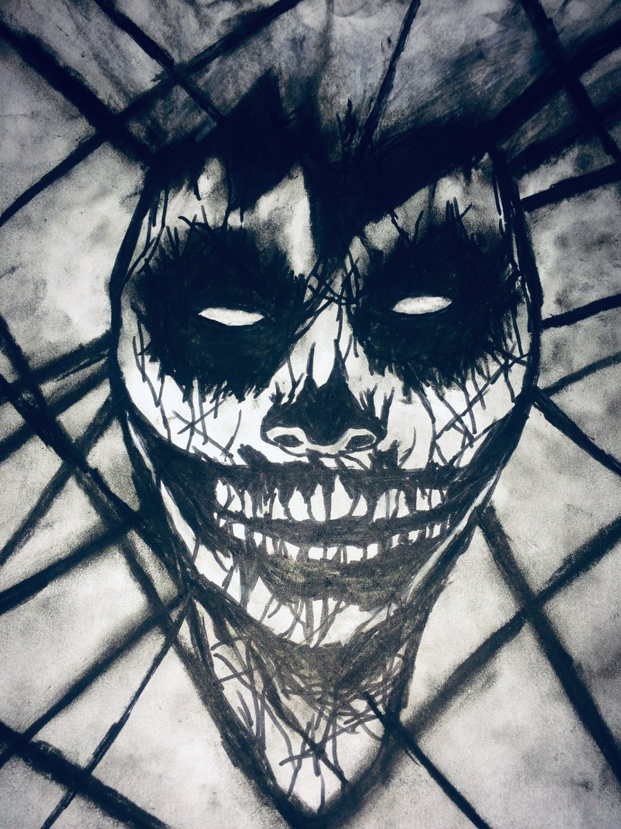 """Horror art, may not be everyone's preference, but... I think, I'm better at it. Than when it comes to my drawings of the """"normal"""" stuff.... #artist #horror pic.twitter.com/qUpXOdP7IP"""