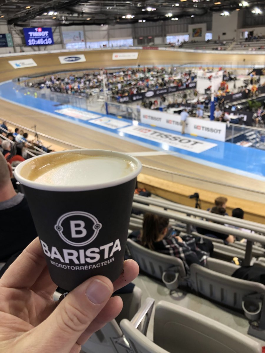 Enjoying some WC racing our offices and some great tasting coffee courtesy of our friends at Baristapic.twitter.com/zTK3SluCio