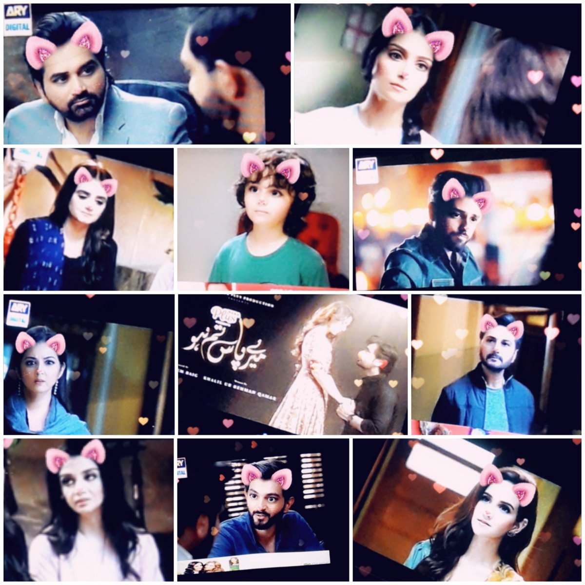 All are looking cute in my collage AchaSorry . Love this drama Different from other stories..Mind Blowing Last EpisodeHeart Breaking#MeryPaasTumHo  @iamhumayunsaeed  @adnanactor  #Rumi(Shees)#Ayeza_Khan #Hira_Manipic.twitter.com/2fBwHDdt8R