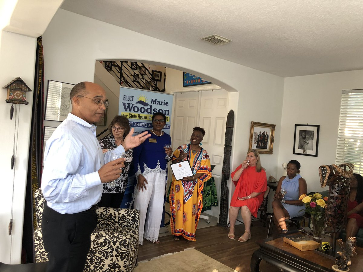The first event of many to come from our campaign in 2020 was a total success! #TeamWoodson is thankful to all who took the time from their Sa evening to participate in our efforts to 𝐌𝐚𝐤𝐞 𝐈𝐭 𝐇𝐚𝐩𝐩𝐞𝐧! Our special thanks go to David & Priscilla Blake for their support!