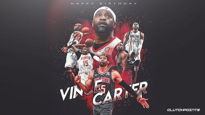 Join us in wishing Vince Carter a happy 43rd birthday!   TrueToAtlanta