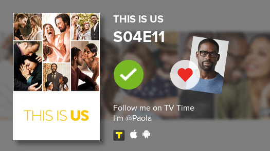 I've just watched episode S04E11 of This Is Us! #thisisus  #tvtime https://tvtime.com/r/1gtxO
