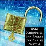 Image for the Tweet beginning: Data corruption can freeze the