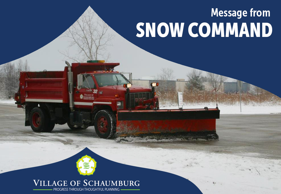 For questions on snow and ice operations during this weekend's #winterweather event, please dial 311 in the village or call (847) 895-4500 outside of @SchaumburgIL. pic.twitter.com/yu9yV3Tbfj