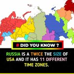 Image for the Tweet beginning: #SundayThoughts #Russia is twice the