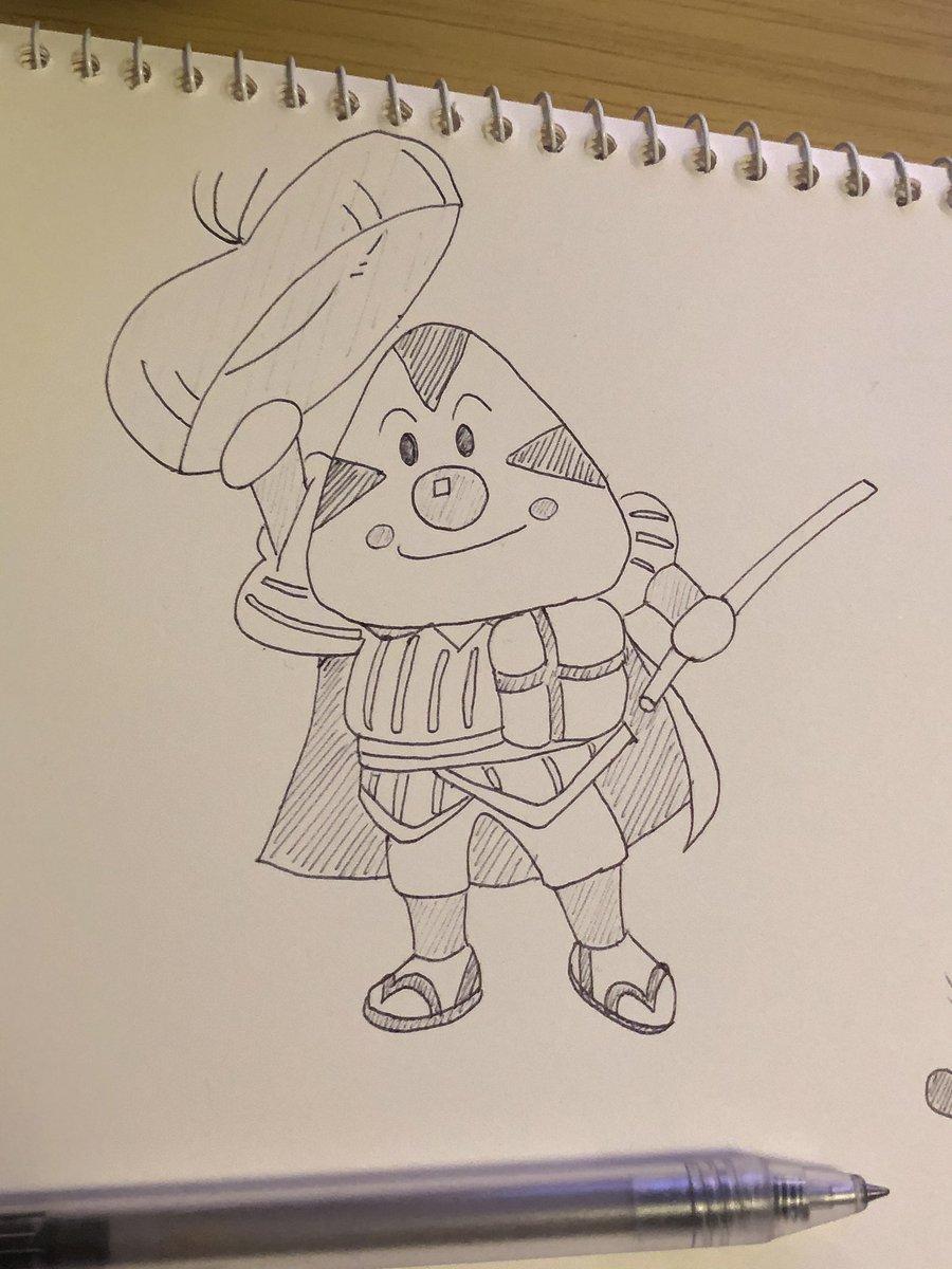 わいわいゆう Twitterissa 久々にイラスト描き 楽しかったです ミニーマウス おむすびまん ロロノア ゾロ ボールペンのみ 一発描き