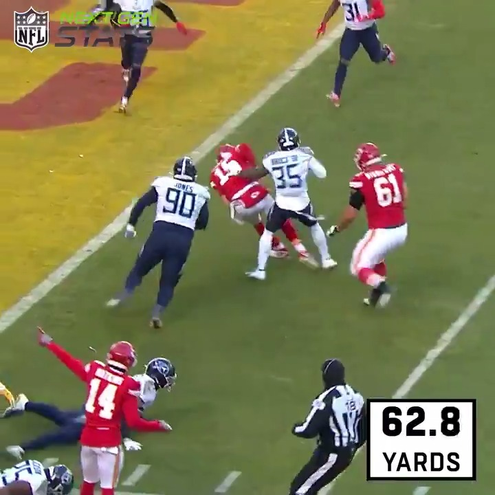 test Twitter Media - It went down as a 27-yard TD run, but @PatrickMahomes doubled it in total distance traveled. 😱   #NextGenStats | @Chiefs https://t.co/A1ngM7ja8A