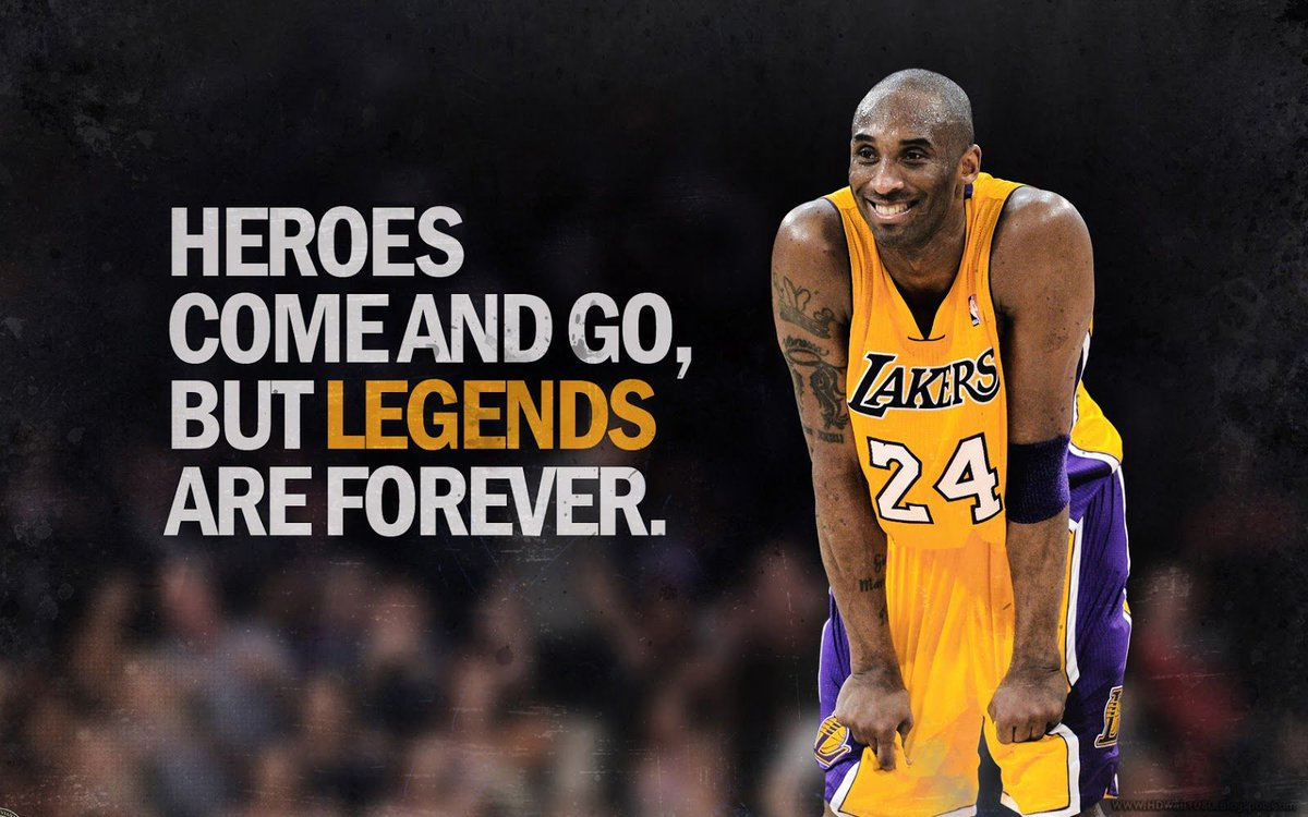 rest in peace to a fucking legend. the world will never see a person like Kobe ever again.