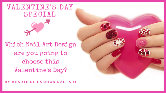 Which Nail Art Design are you guys going to choose this VALENTINE'S DAY? Do you have any special Nail Art Design Idea in your mind then share it with me in the comments below & I will make sure to post it on the page along with your name on it. #ValentineDay #ValentineDayNails<br>http://pic.twitter.com/TRsr7VKkMJ