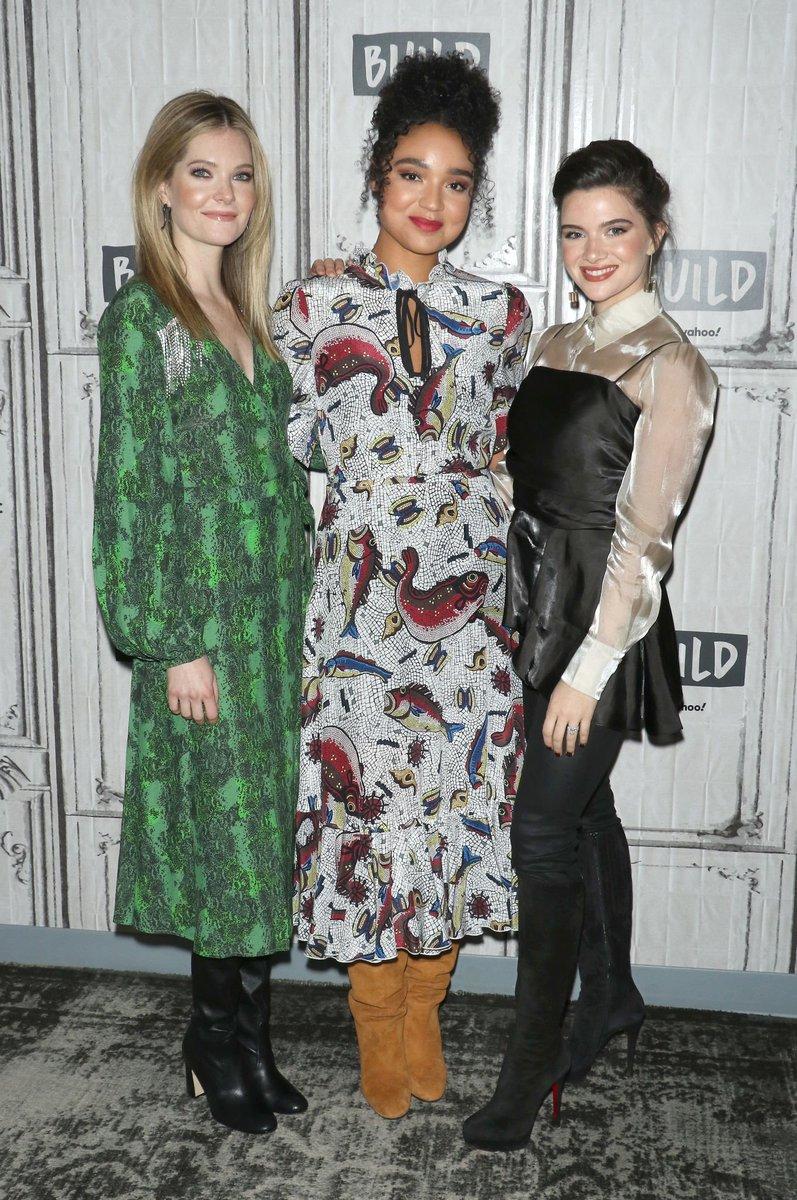 📷 | #NEWS : Katie, Aisha et Meghann dans les studios de @BUILDseriesNYC (23/01). #1