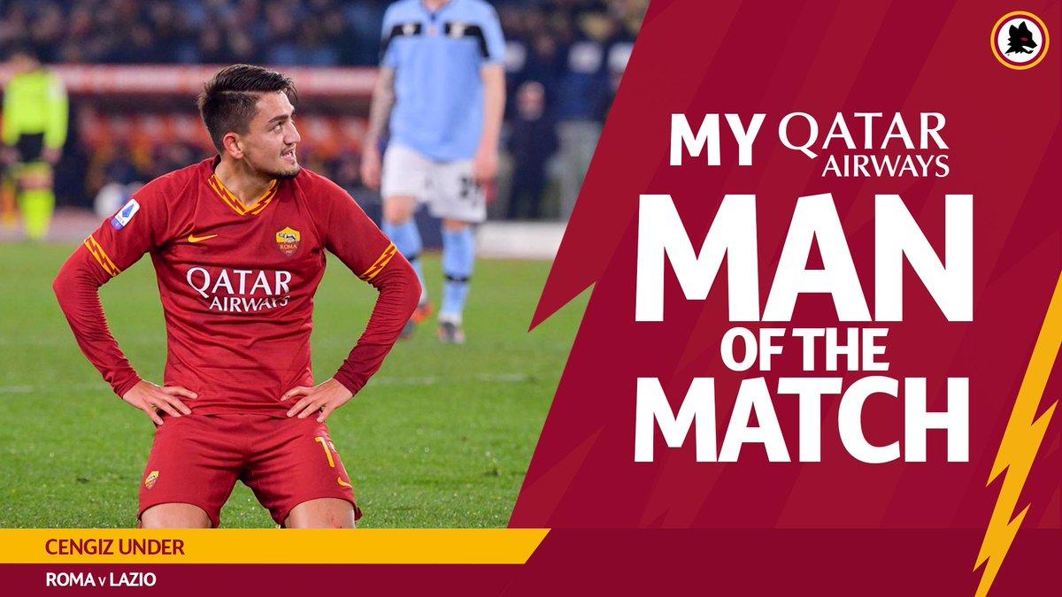 Retweet if Cengiz Under was your #ASRoma @QatarAirways Man of the Match against Lazio
