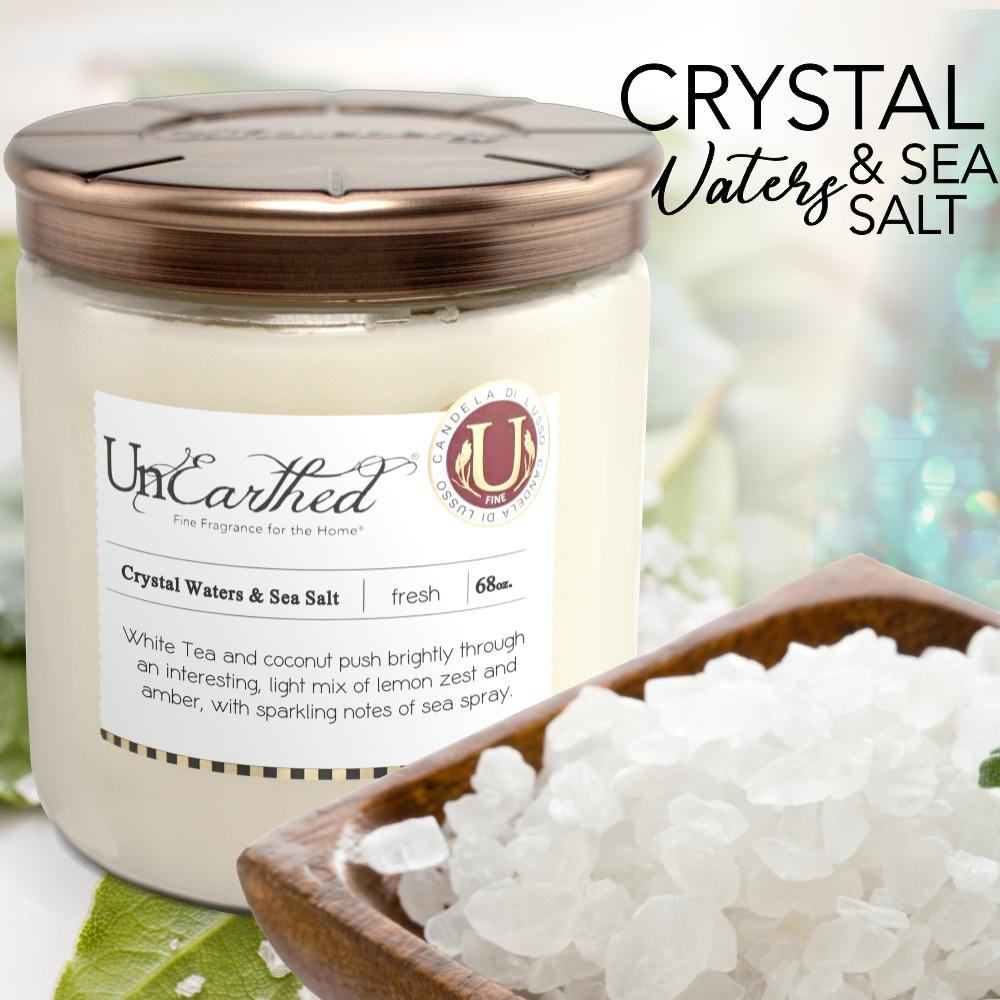 Crystal Waters & Sea Salt  - Magna Vitrum 68 oz., High Performance Scented 3-...   by UnEarthed® Luxury Candles,  $105.00.  HERE https://shortlink.store/bLE5wiyKk  #premium #candles #candle #love #luxurylife #best #lovepic.twitter.com/Olr7MjzbMa