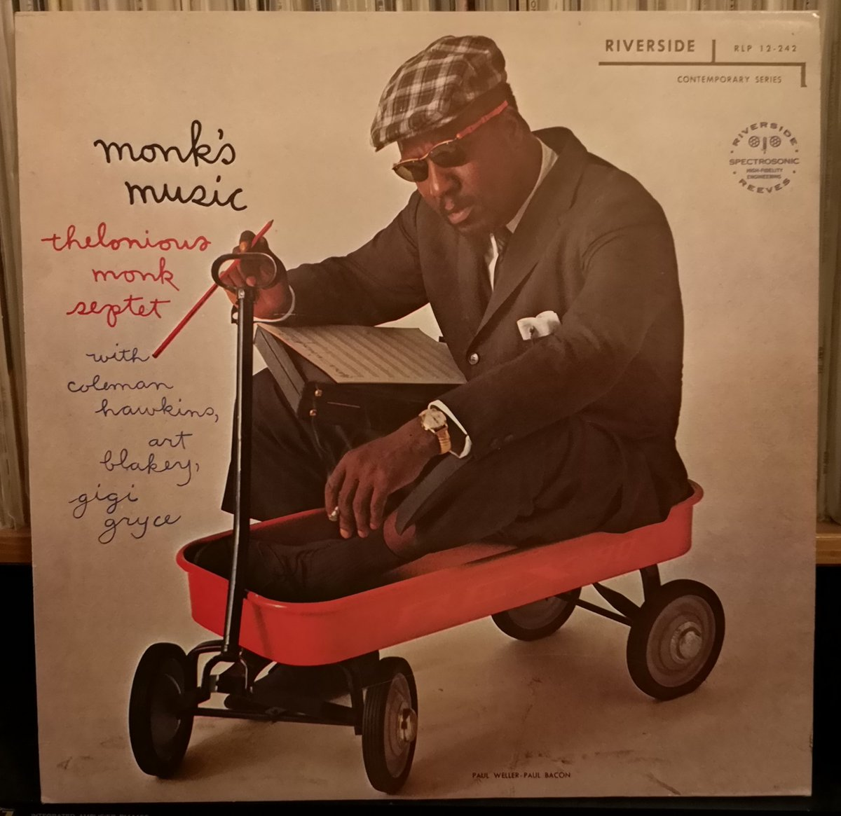 #NowPlaying #nowspinning a #Jazz #legend perfect #sundayvibes Monk's Music - Thelonious Monk Septet  Released on Riverside Records in 1957, featuring Gigi Gryee, Coleman Hawkins, John Coltrane, Wilbur Ware & Art Blakey #vinylrecords #BOP #hardbop #vinylcollectionpic.twitter.com/lAzZ9a3XAM