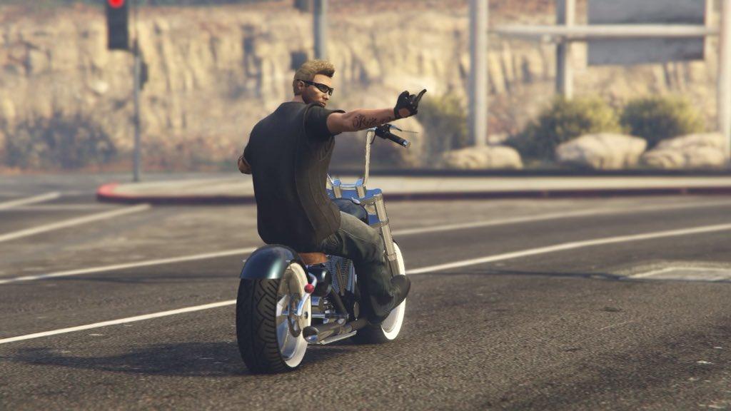 Biker.!  part II  #GTAVogue #GTAV #GTAOnline #Snapmatic #PS4Share #RockstarGames   I had a couple more to share. Please  to enlarge and enjoy.pic.twitter.com/GGGuRedBtR