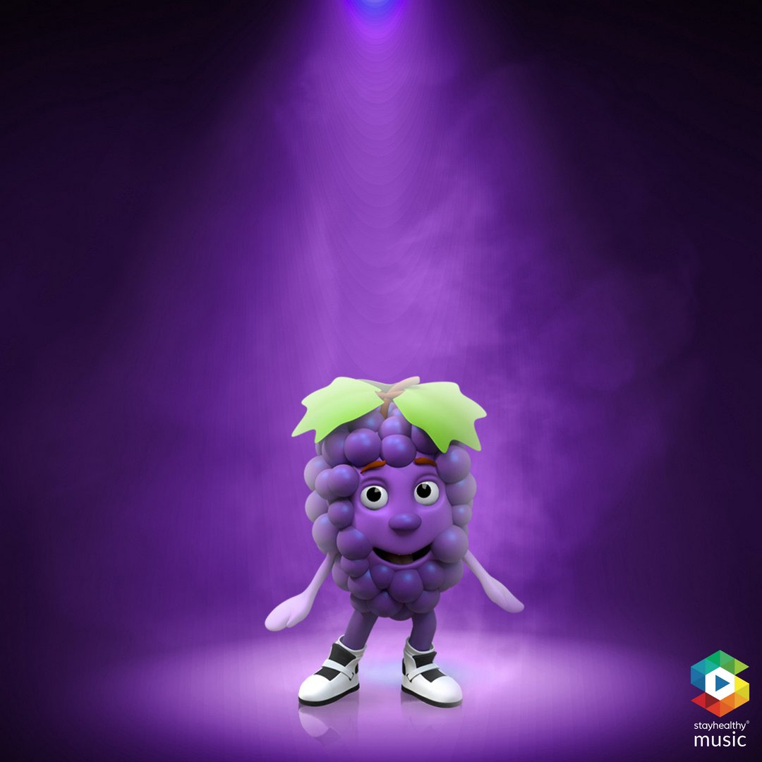 """Heyyyy, don't fuhget about the fact that (G)rapes are really good for your skin! Eat up and watch your skin glow!   And don't forget to listen to """"The Stay Healthy Shake"""" on @Tidal Music's Kids' Corner Playlist! #glowingskin #fruitfacts #snacktownallstars #newsong #kidsmusicpic.twitter.com/4nevZPlAH0"""