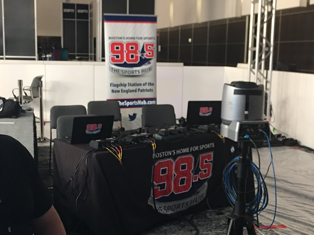 Getting ready for @985TheSportsHub 11th consecutive year on Radio Row. Broadcasting all week from Miami CC. Starting Monday at 6am with @Toucherandrich. @ZoandBertrand @FelgerAndMazz