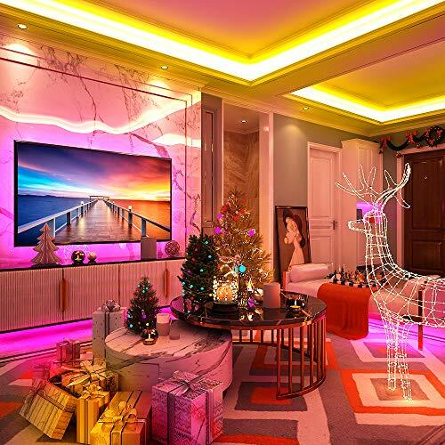 MINGER LED Strip Lights 32.8ft RGB Color Changing Light Strip Kit with Remote Control Led Light for Room, Bedroom, Kitchen, Christmas Decoration, Bright 5050 LEDs, Cutting Design, Easy Installation #instrumentspic.twitter.com/TAvLjV0QdI