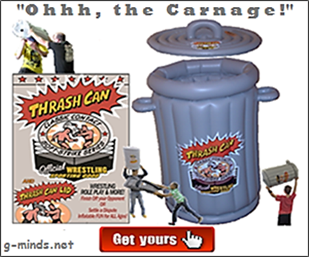 #Experience #Legendary #Wrestling Trash Can --->  #HardCore Action ... #ThrashCan #ManCave #PoolToys #TailGate #PPV #PartyFavors #RolePlay #BackyardWrestling #FUNToys  #WWE #WrestleMania #UFC #WrestleCon #NWA #BELLATOR #SmackDown #AEW #IMPACT #NXT #ROH #RAW
