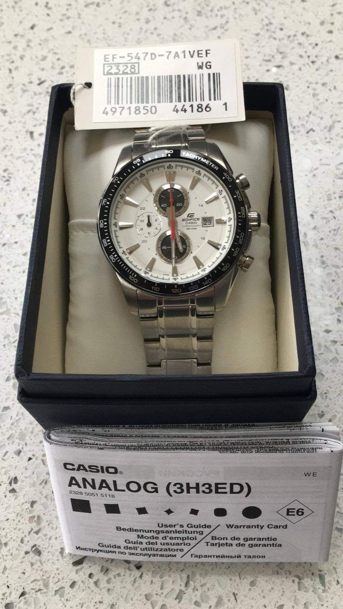 A gents Casio Edifice 2328 Chronograph watch. In auction 28th January. #wga #auction #worthing #shoreham #brighton #hove #sussex #casioedifice #casio #watch #wristwatchpic.twitter.com/4cQoffnnTR