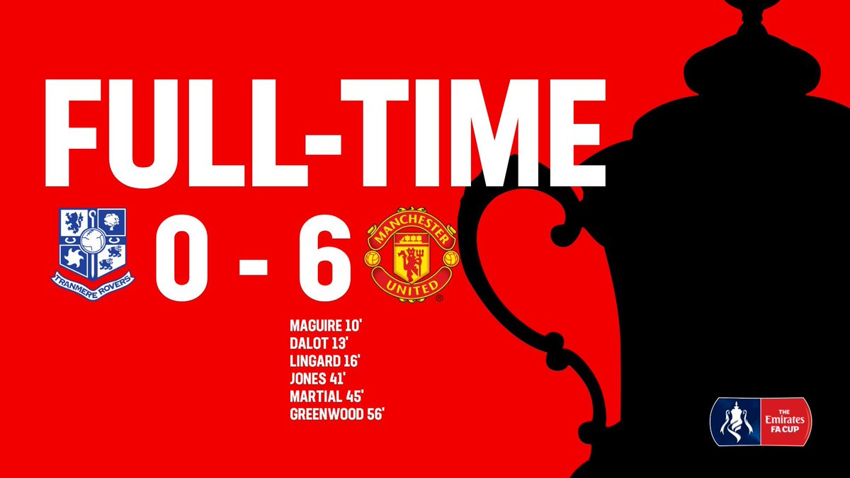 Tranmere 0-6 Manchester United, 26/01/2020