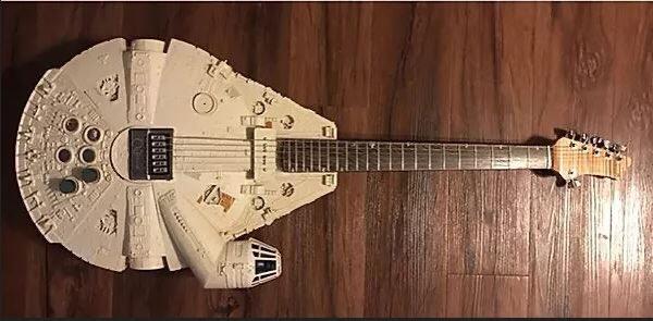 #Geek Awesome of the Day: White #StarWars Millennium Falcon #Guitar 🎸 at @NAMMShow via @SWUcom #SamaGuitars #SamaGeek 🤓