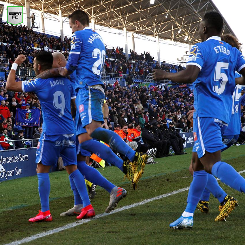 ¡AGÓNICO! Con un penal de Ángel sobre la hora, Getafe venció 1-0 al Betis y quedó cuarto en #LaLigaxESPN. ¡En zona de Champions!