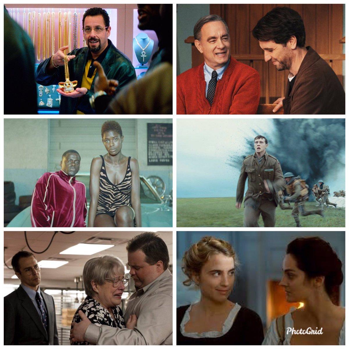 #AwardsSeason está ya finalizando, pues me eché seis películas mas: 1. #UncutGems 10 2. #ABeautifulDayInTheNeighborhood 7 3. #QueenAndSlim 7 4.  #1917 9 5. #RichardJewell 7 6. #PortraitOfALadyOnFire 7.pic.twitter.com/wjrGWHyNNc