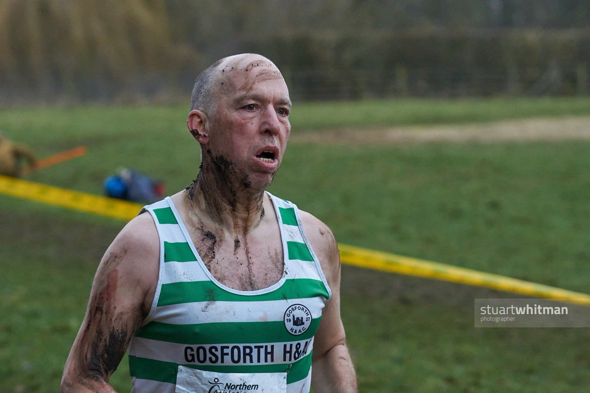 """""""Attack the mud""""  Steve Boddy @Gosforth_HandAC looked like he'd been to war out in the woods at the Northern #xc championship #crosscountryrunning pic.twitter.com/cCGzJz4uO9"""