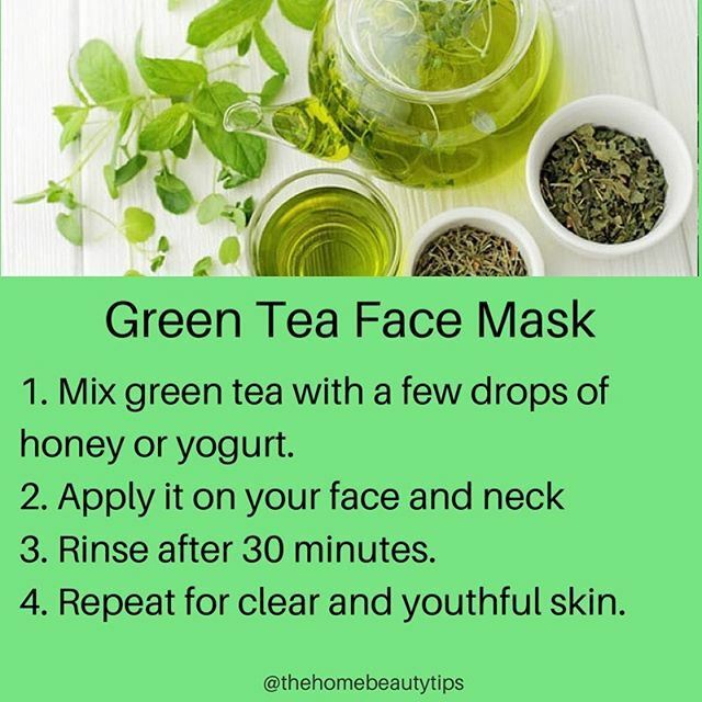 Green Tea Face Mask: Follow @thehomebeautytips  1. Mix green tea with a few drops of honey or yogurt. 2. Apply it on your face and neck 3. Rinse after 30 minutes. 4. Repeat for clear and youthful skin.  #beauty #skincare #hair #haircare #lipcare #love #l… https://ift.tt/2tRiziT pic.twitter.com/B26cxcU4Dw