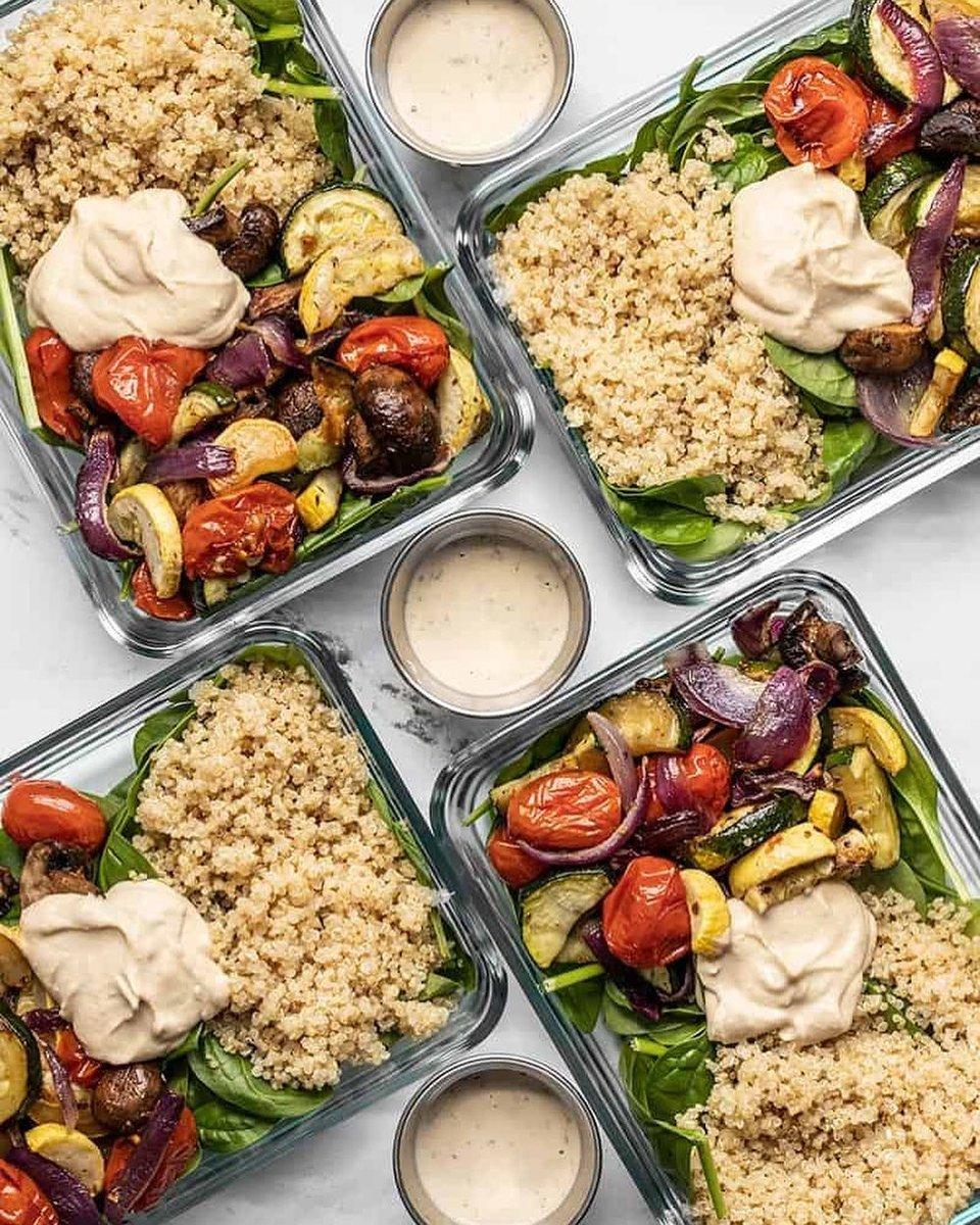 These look soooo tasty! 😋  #TRAINforHER #mealprep #veggies #healthyliving $healthy food #healthymealprep #vegetarian #vegetarianmealprep #weeklymealprep #mealprepinspo #tasty #yum #delicious