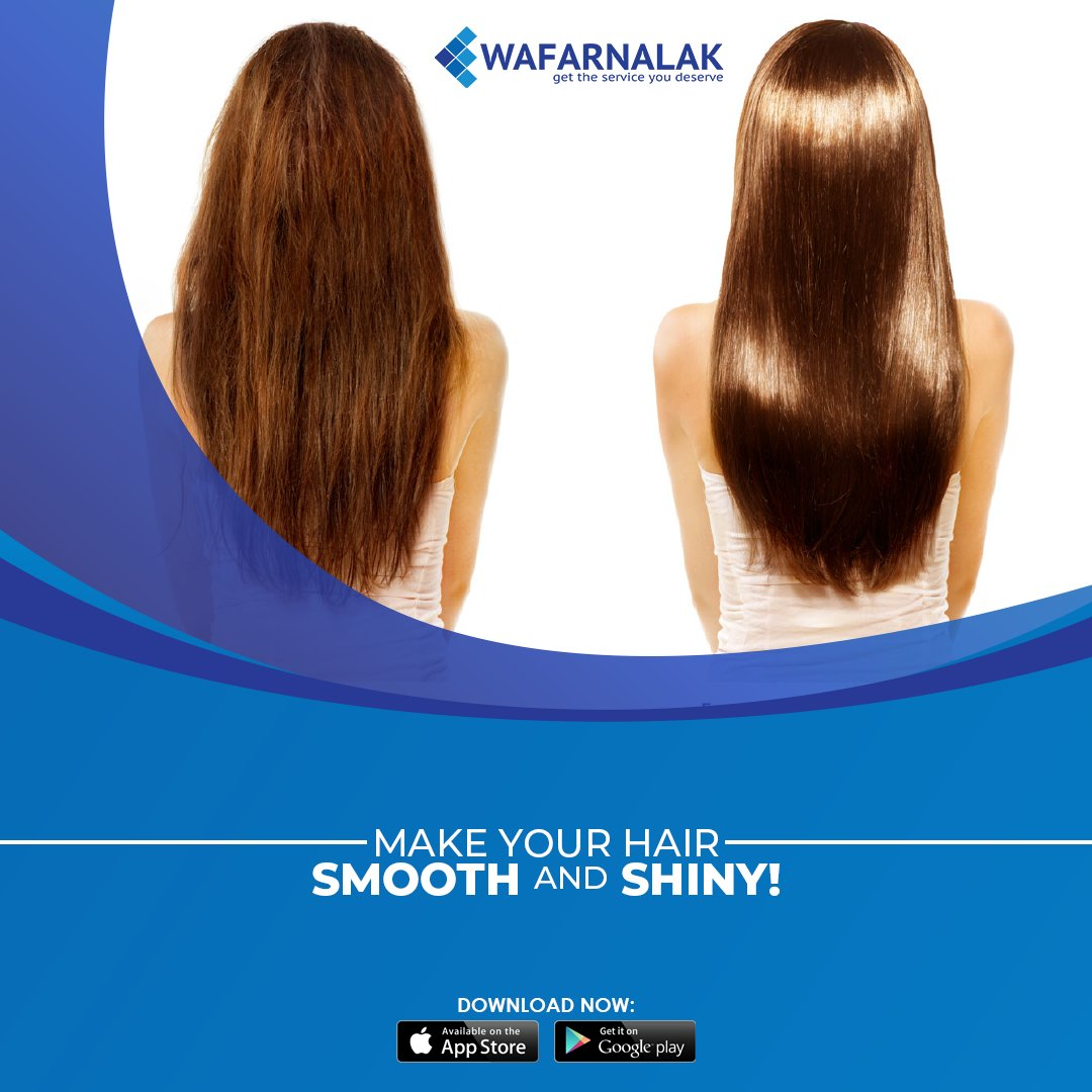 #Wafarnalak provides a solution to your rough #hair.  Get a #ProteinTreatment from experts at #best price🥰😍💇 Download Now Google Play  or iOS Store  #WafarnalakApp #Riyadh #KSA #Hairstyles #WomenBeauty  #Women #GoodEvening
