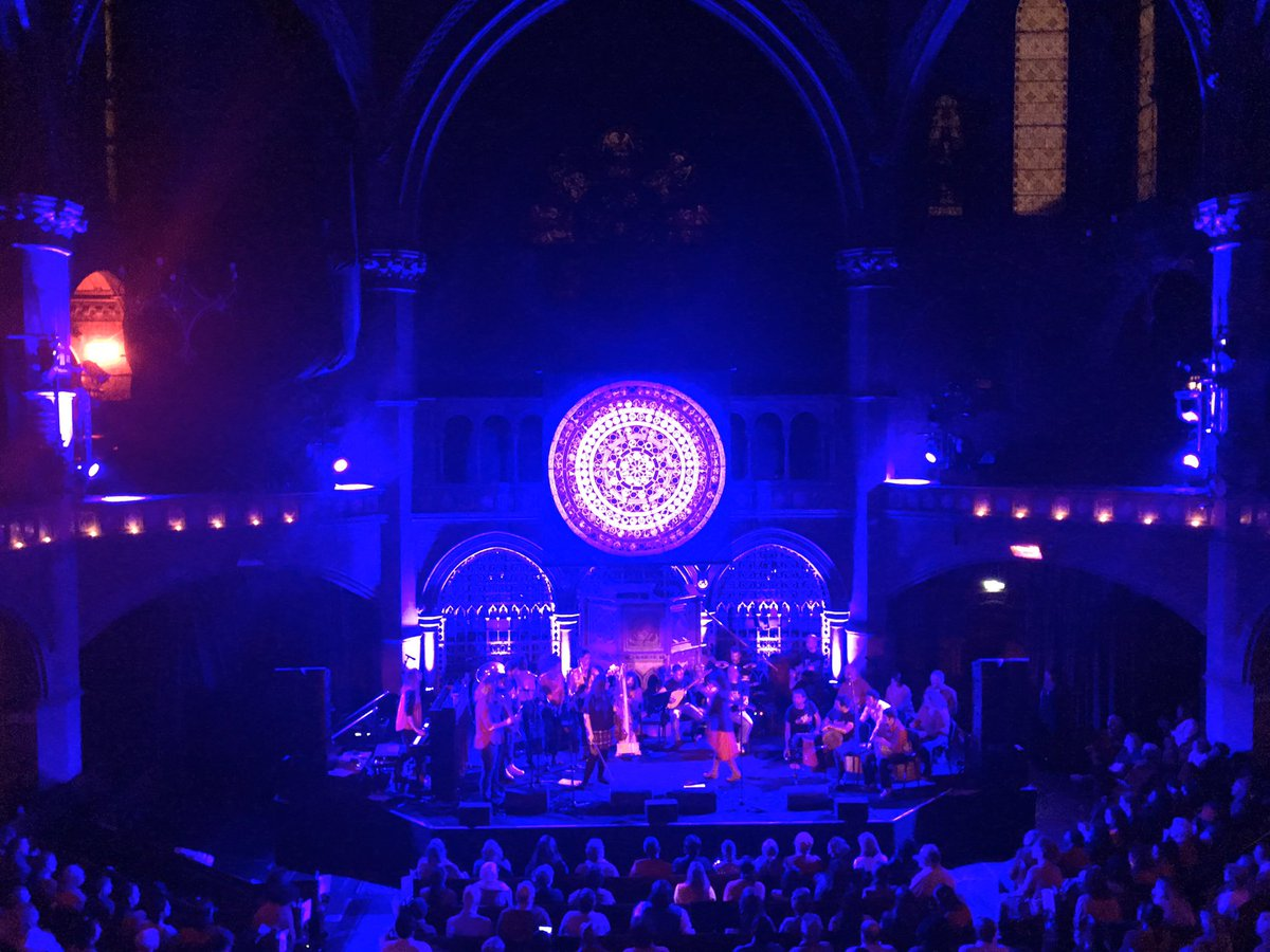 The 'Singing Our Lives' concert organised by @Together_Create is starting now at @UnionChapelUK #standtogether