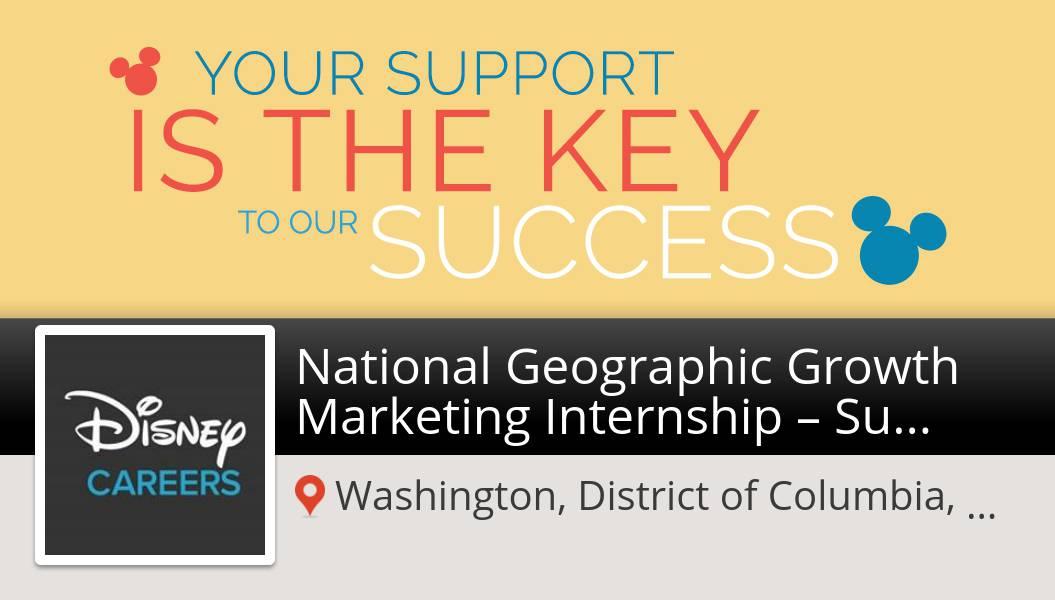 National Geographic Growth Marketing #Internship – #Summer 2020 needed in #Washington at #Disney. Apply now! #job  #DisneyJobs