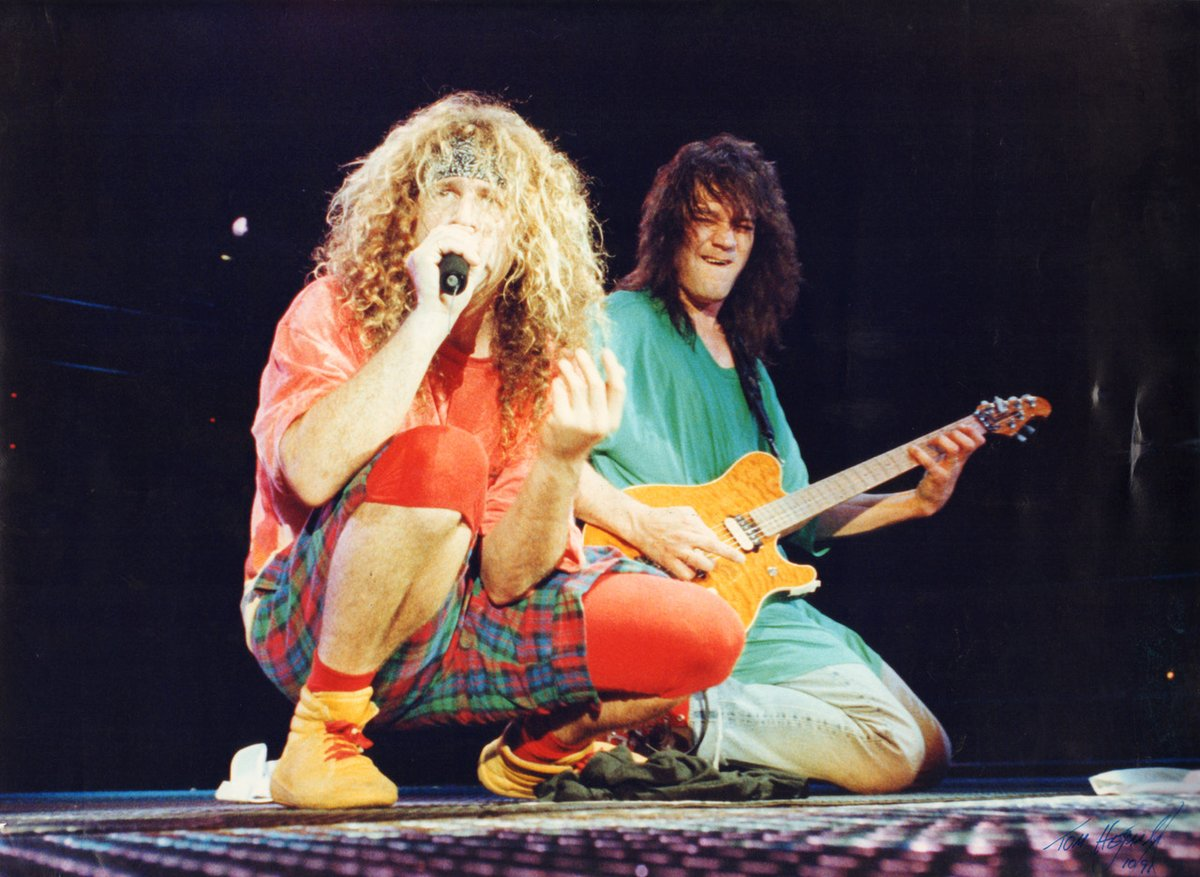 Happy birthday Eddie Van Halen. I hope you're healthy and happy. I love this picture of us rockin out.