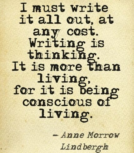 Writing is being conscious of living. #TeachWrite
