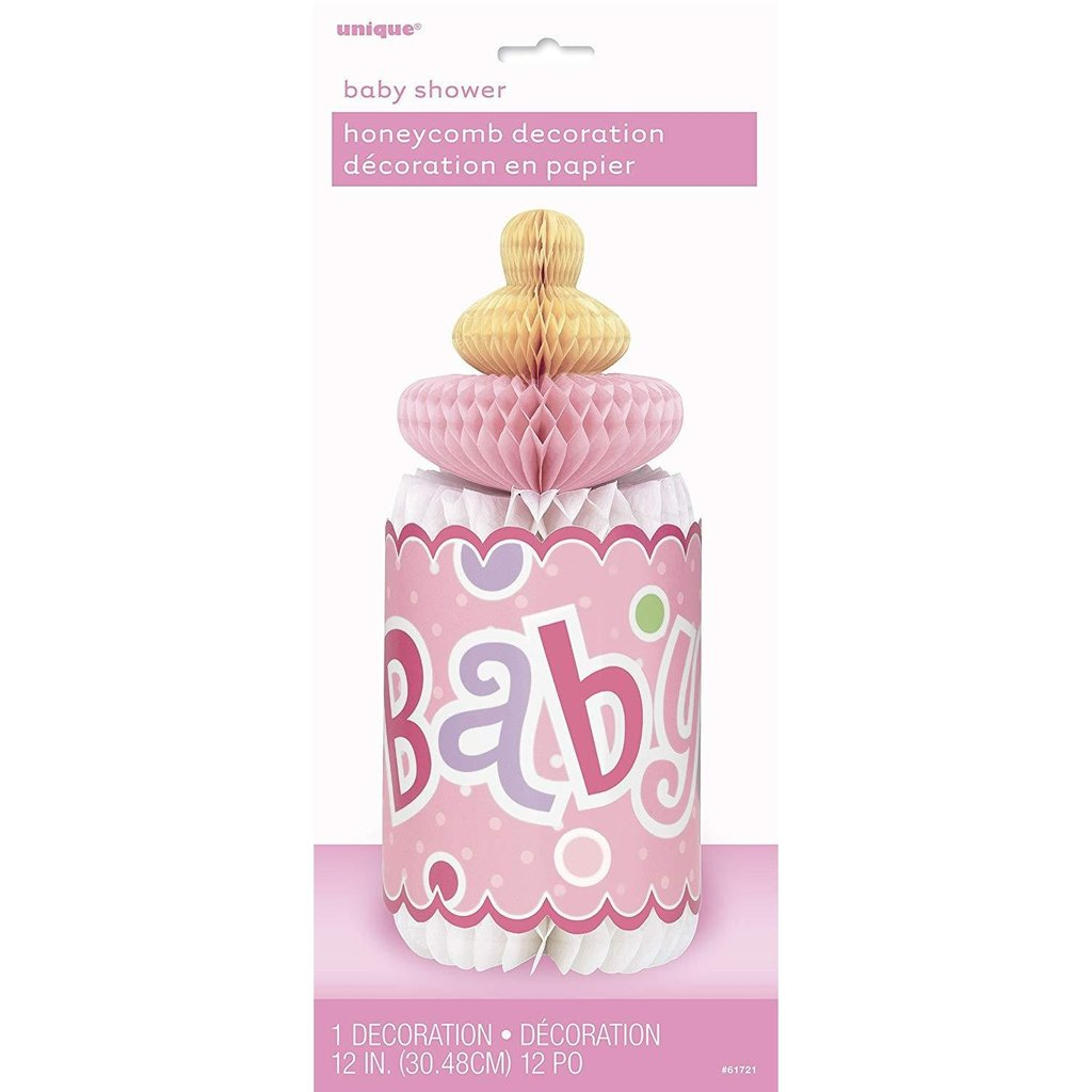 """Check out this product  12"""" Honeycomb Pink Polka Dot Bottle-Shaped Baby Shower Decorations  starting at £ 3.99.  Shop now https://shortlink.store/RaUhuF6Vms  #babyshower #babyshowers #babiespic.twitter.com/flkNiIoBBE"""