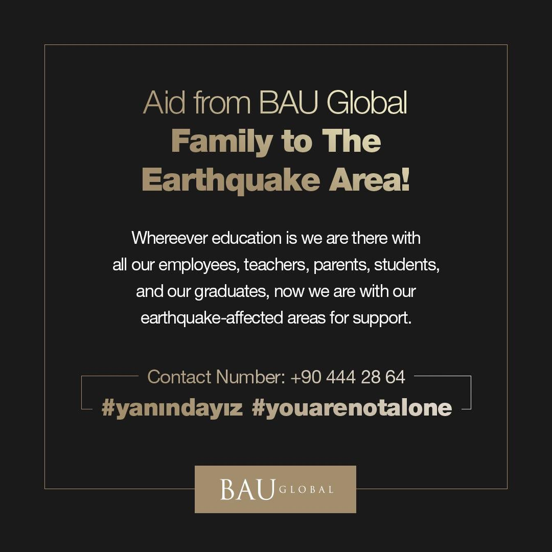 As BAU Global Family, we are starting to renovate the schools damaged by the earthquake in Turkey and we aim to finish the renovation of these schools for the second semester which will start one week later. We are waiting for your support. #yanındayız #youarenotalonepic.twitter.com/NtE2CwLkAU