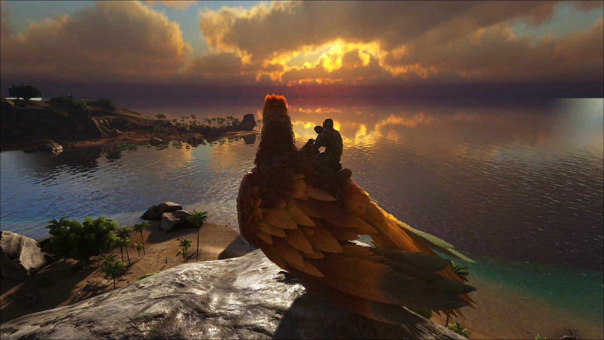 Der erste und zugleich wunderschöne Sonnenaufgang auf dem ersten eigenem Server! #ArkSurvivalEvolved #Ark #playARK pic.twitter.com/FkLViOZMX5
