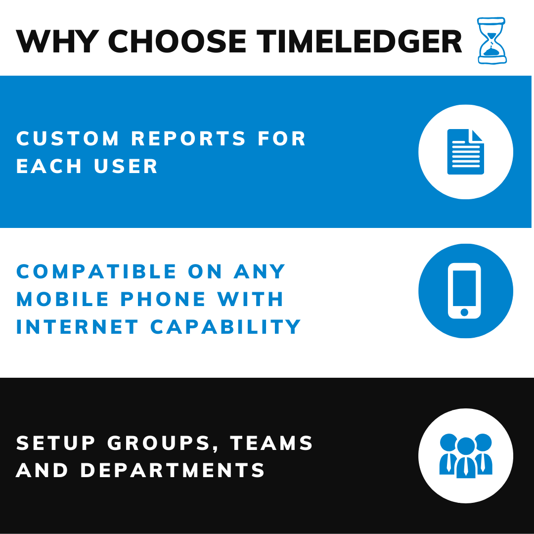 Use custom reports, mobile compatibility and even organize your team into groups.  - - Learn more about Timeledger's features here http://bit.ly/30A8LFL   - - #business #Businessman #Businessowner #productivity #timemanagement #timemanagementskillspic.twitter.com/sxKpI2MQVh