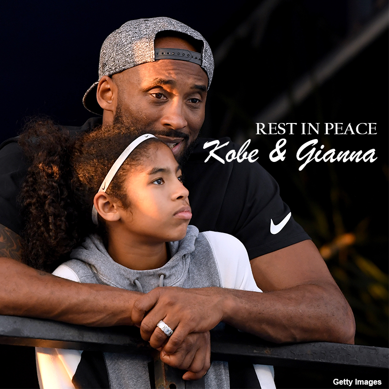 RIP KOBE & GIANNA ♥ The world continues to react to the tragic news of Kobe Bryant and his daughter Gianna dying in a helicopter crash with 7 others. They are survived by wife & mother, Vanessa and daughters & sisters, Natalia, Bianka and Capri. ♥ https://t.co/bypjVG2KMP