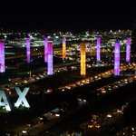 Image for the Tweet beginning: Tonight, LAX's pylons will be