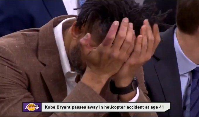 【影片】一向喜怒不形於色的鄧肯,在得知Kobe離世的消息后,也雙手捂眼哭了!