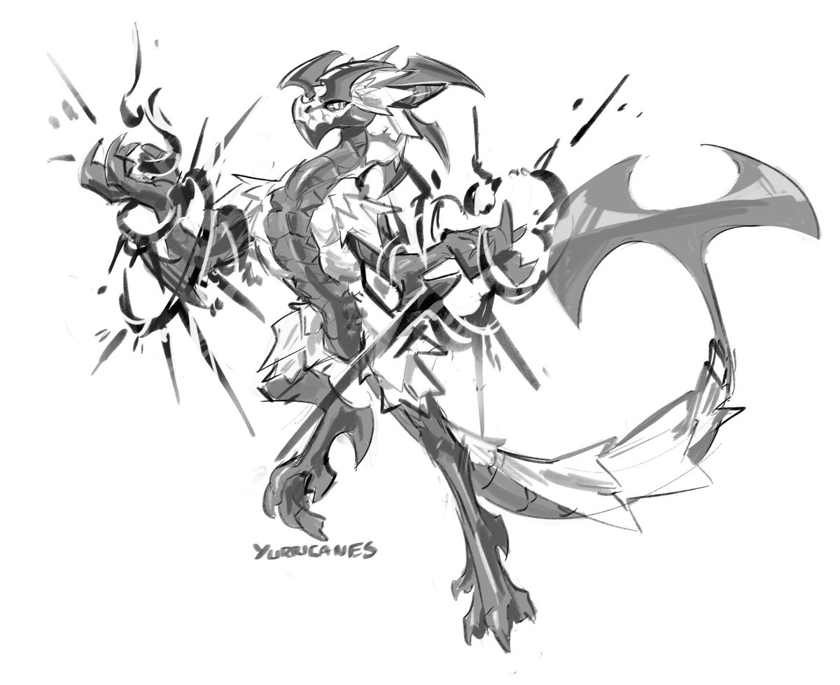 Rando dragon doodle from class that I cleaned up  he is shiny <br>http://pic.twitter.com/rbGkTmjyPe
