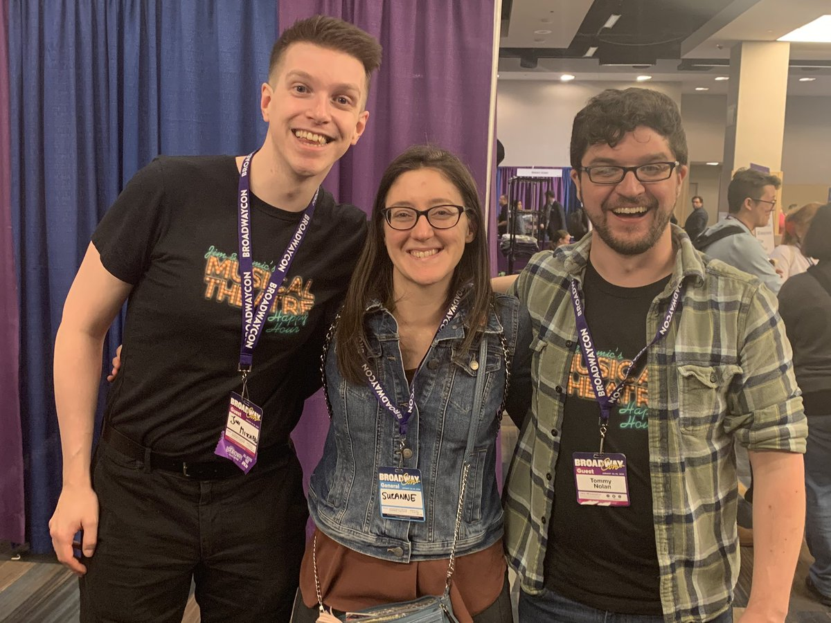 Huge thanks to @jimandtomic, and @BwayPodNetwork for hosting, for coming to #bwaycon. My two favorite podcasters @asinhendrix and @MusicalMash made this year really special. #musicaltheatre Check our their BwayCon episode when it goes live! It's hilarious #CatsTheMoviepic.twitter.com/ycRxWoc6OX