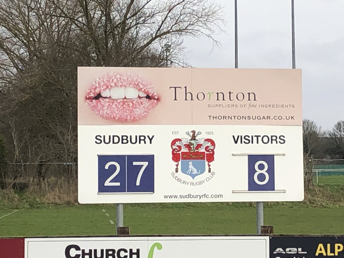Well played to our Colts who won the 1st game of this seasons Eastern Counties U18 Cup in a thrilling game v Saffron Walden #coyb<br>http://pic.twitter.com/yU3XokaWHC – à Sudbury Rugby Club