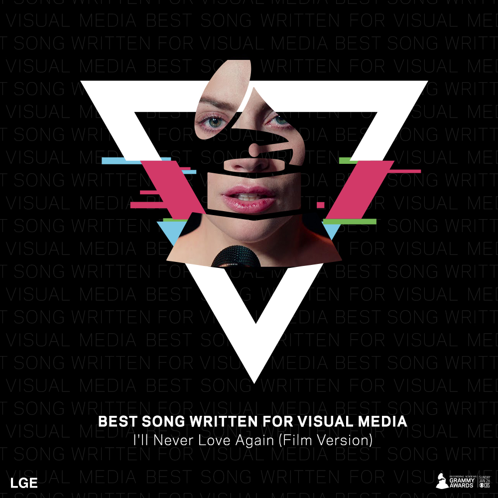 @ladygaga  just won #BestSongWrittenForVisualMedia  for #IllNeverLoveAgain  at the #GRAMMYs  @RecordingAcad !