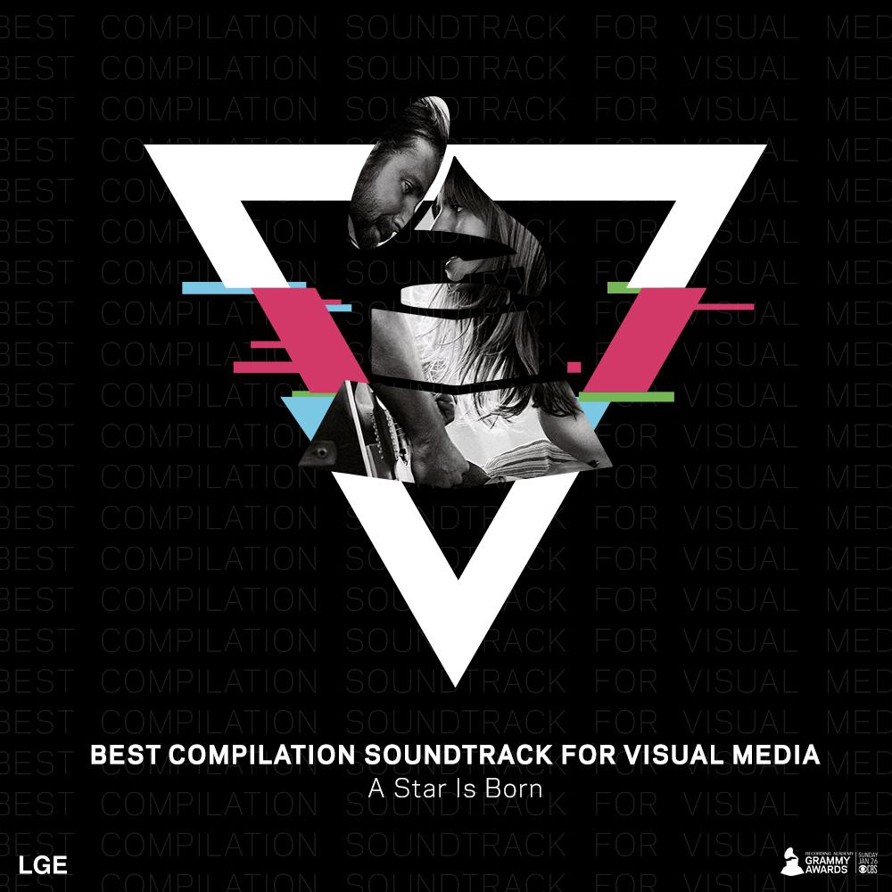 @ladygaga  just won #BestCompilationSoundtrackForVisualMedia  for #AStarIsBorn  at the #GRAMMYs  @RecordingAcad !