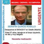 Image for the Tweet beginning: #TeBuscamos Serafín Quirós Rosillo, 57