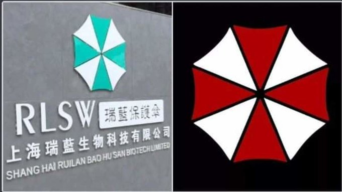 Wait, so there's a biological research lab with the exact same logo as the Umbrella Corporation right in the city where the #coronarvirus originated, AND corona is an anagram for racoon.   What the fuck has this timeline been smoking???
